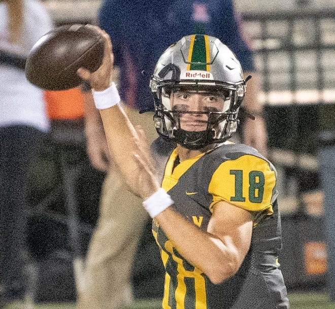 Calvary quarterback Landy Lyddy passes against St. Martin's Episcopal during Friday's LHSAA Division IV playoff game.