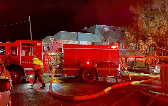 Wichita Falls firefighters worked to control a large apartment fire Saturday morning.