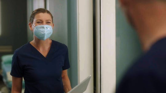 """The Season 17 premiere of """"Grey's Anatomy"""" picks up one month into the pandemic, and it's all hands on deck as Meredith (Ellen Pompeo) and the rest of the Grey Sloan doctors find themselves on the frontlines of a new era."""