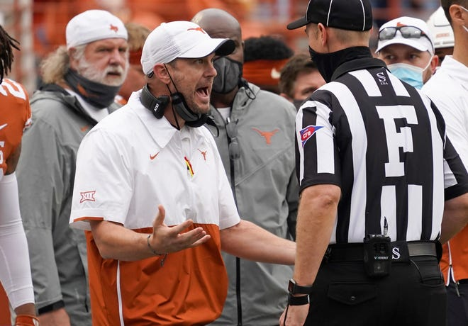 Tom Herman and Texas dropped to 5-3 following a home loss to Iowa State.