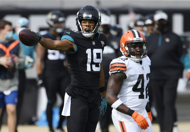Jaguars rookie wide receiver Collin Johnson has played his best football of the season in the last two games, with eight receptions for 162 yards and a touchdown.