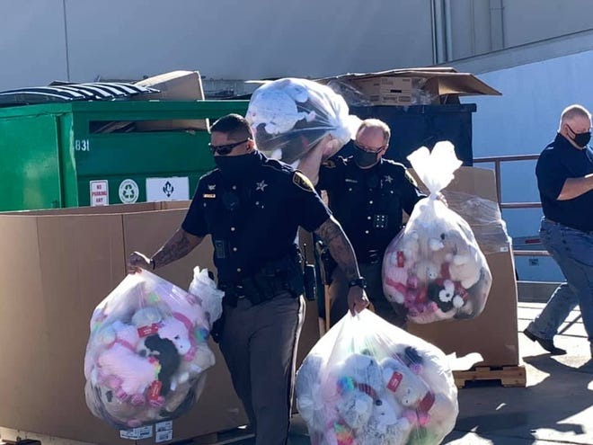 Lubbock police and sheriff's deputies collected a donation of stuffed animals to help law enforcement in their outreach to young people earlier this month at PetSmart.
