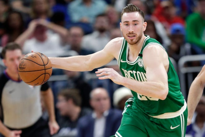 Gordon Hayward, shown here in a game last January, officially joined the Charlotte Hornets on Sunday as the Celtics and Hornets agreed on a sign-and-trade.