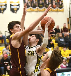 Southeast's Aidan Fischer, pictured last year against Garfield, had eight points and eight boards against Field Saturday evening.