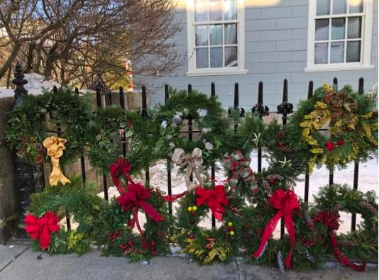The Marblehead Garden Club elves will be selling decorated holiday wreaths to support the gardens and the work of the Marblehead Garden Club.