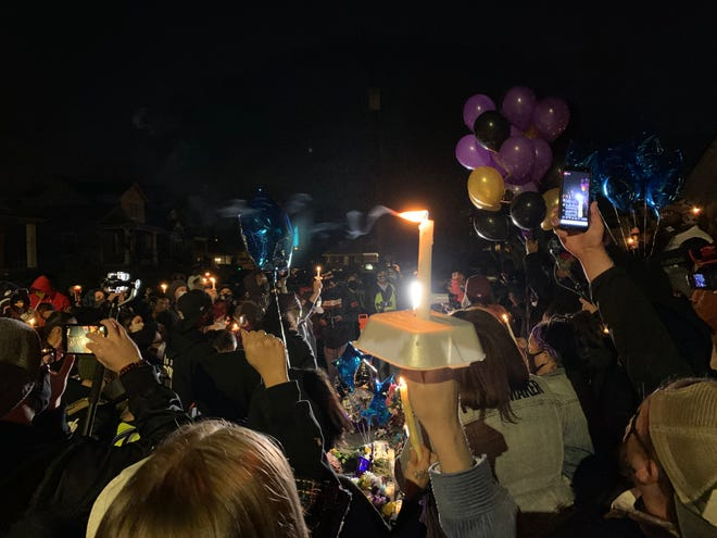 More than 100 people gathered Saturday night on Crittenden Drive to honor Travis Nagdy, a 21-year old Breonna Taylor protest leader who was killed this week.