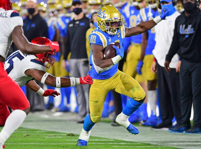 UCLA running back Demetric Felton was chosen in the sixth round, No. 211 overall, of the NFL Draft on Saturday by the Browns. [Getty Images]
