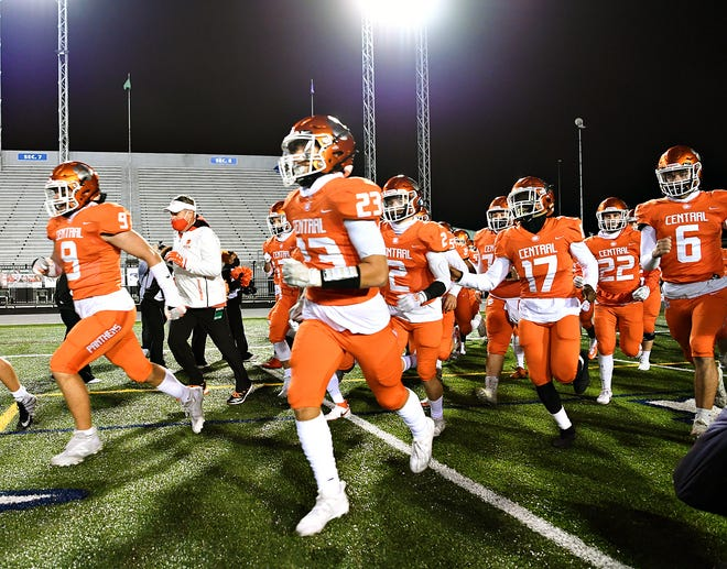 Central York vs St. Joseph's Prep during PIAA Class 6-A Football Championship action at Hersheypark Stadium in Hershey, Saturday, Nov. 28, 2020. St. Joseph's Prep would win the title game 62-13. Dawn J. Sagert photo