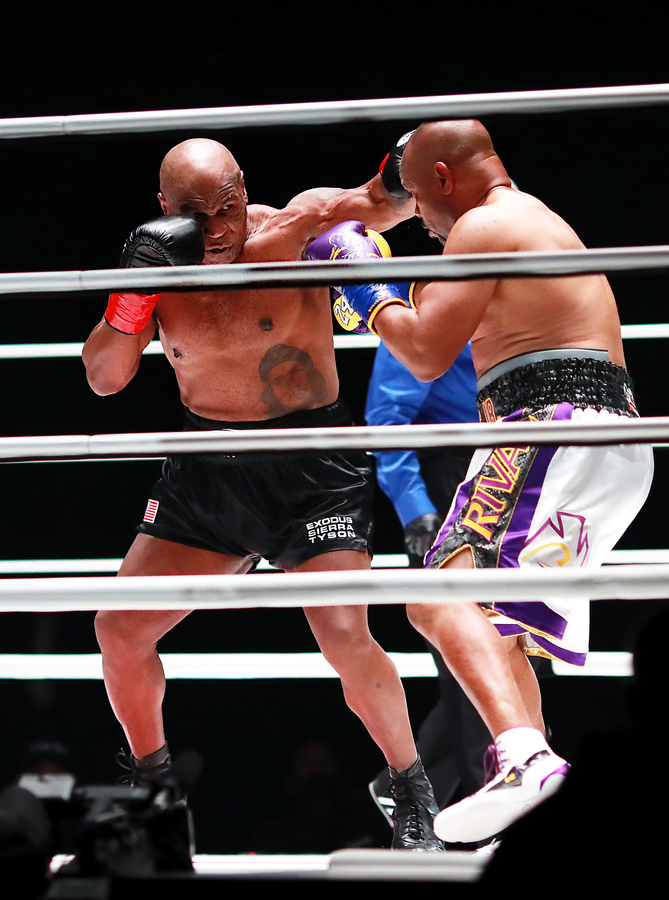 Mike Tyson, 54, fights Roy Jones Jr., 51, to draw in his return to boxing ring