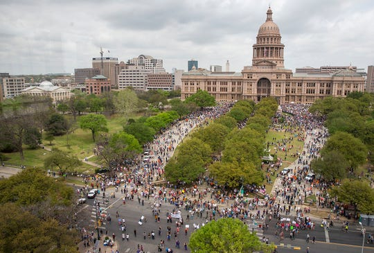 Texas State Capitol on March 24, 2018, in Austin.
