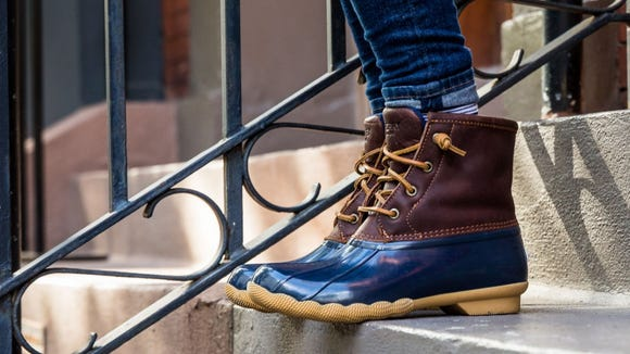 Sperry duck boots are discounted for Black Friday.