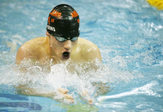 Bailey Parsons is one of 15 total returning letterwinners for the Ashland High swimming and diving teams this season.