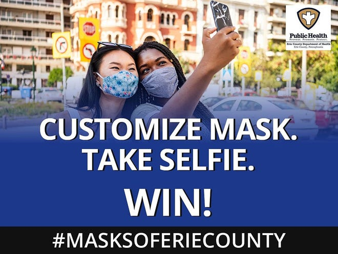 The Masks of Erie County Challenge encourages people to design a face mask and send a selfie of them wearing it to the Erie County Department of Health.