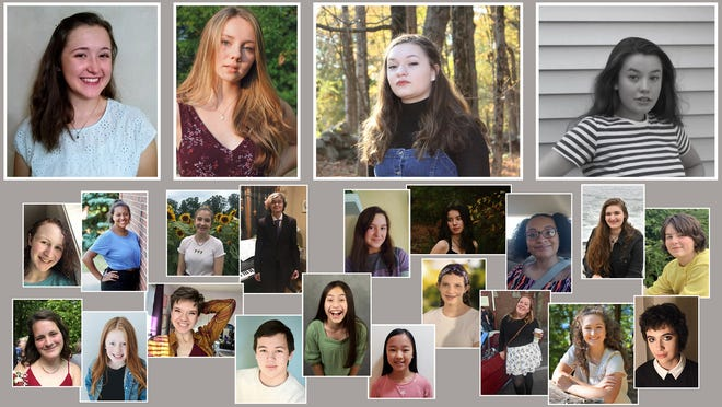 Twenty-three members of the Andrea Veal Voice Studio participated in the recent Granite State NATS student auditions. Top row, from left, are winners Emmeline Sevey, Gracie Gallagher, Haiden Hesse-Stromberg along with finalist Gretchen Parent. Also performing were, middle row,  Hannah Watson, Alexis Voce, Jadyn Stevens, Lirael Craycraft, Alaina Sevey, Sofia Calzone, Juliandra Ureña, Alisha Tarbuck, Hayley Newick; bottom row, Lucy Ewing, Mollie Pedersen, Olivia Fieldsend, Timothy Udomprasert, Chloe Trejo, Claire Xiao, Erinn Doherty, Emma Bovill, Colette Sevey, Sydney Smith.