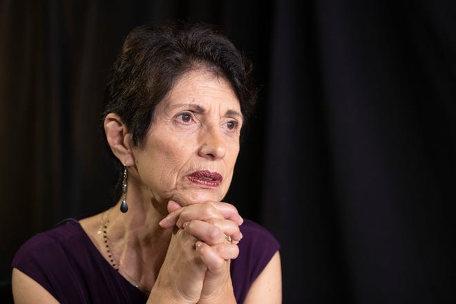 Rochester's Diane Foley, mother of journalist James Foley, who was killed by the Islamic State terrorist group in a graphic video released online, speaks to the Associated Press during a June 2019 interview in Washington. The indictment charging two Islamic State militants in the torture and deaths of American hostages, including Foley's son, in Syria is the culmination of a yearslong legal and diplomatic tussle between the U.S. and Britain.