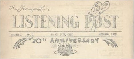 The masthead for the 10th Anniversary Issue of The Listening Post, October 1955.