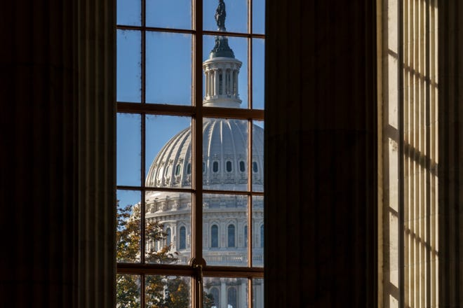 The morning sun illuminates the rotunda of the Russell Senate Office Building on Capitol Hill in Washington. After months of shadowboxing amid a tense and toxic campaign, Capitol Hill's main players are returning to Washington for one final, perhaps futile, attempt at deal making on a challenging menu of year-end business.