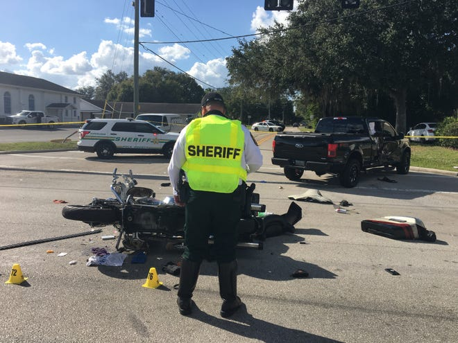 Polk County Sheriff's Office Traffic Unit investigators work the scene of a fatal crash at the intersection of U.S. 98 and Gib-Galloway Road on Friday.