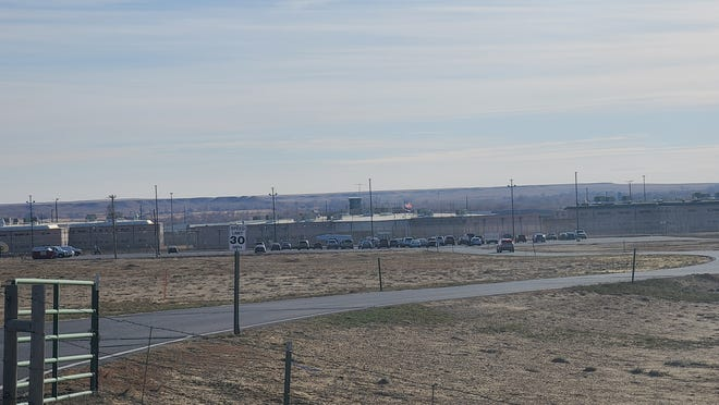 A glimpse of Crowley County Correctional Facility from the main entrance gate.  Crowley/Otero Health Director Rick Ritter said that the closure of Bent and Crowley prisons would exacerbate economic inequalities in Southeast Colorado.