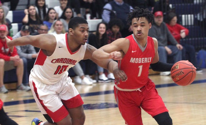 Dezi Jones, a 5'10 point guard from Hannibal, is one of two returning players for the 2020-21 Moberly Area Community College Greyhounds men's team. Jones (#1) knocked down 86 threes while averaging 14 points and 4 assists per game during his freshman campaign.