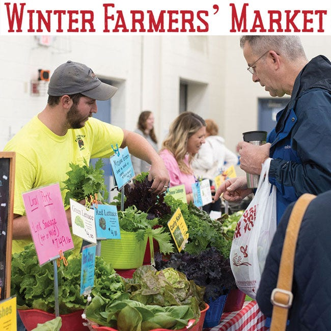 The market will be indoors and spread out every Saturday, 9 a.m. to noon at St. Mary's School Gym.