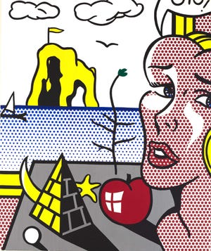 Still Life with Head in Landscape, from 1976, is one of the paintings that will be featured in Wynn Fine Art's season-opening Roy Lichtenstein exhibition.