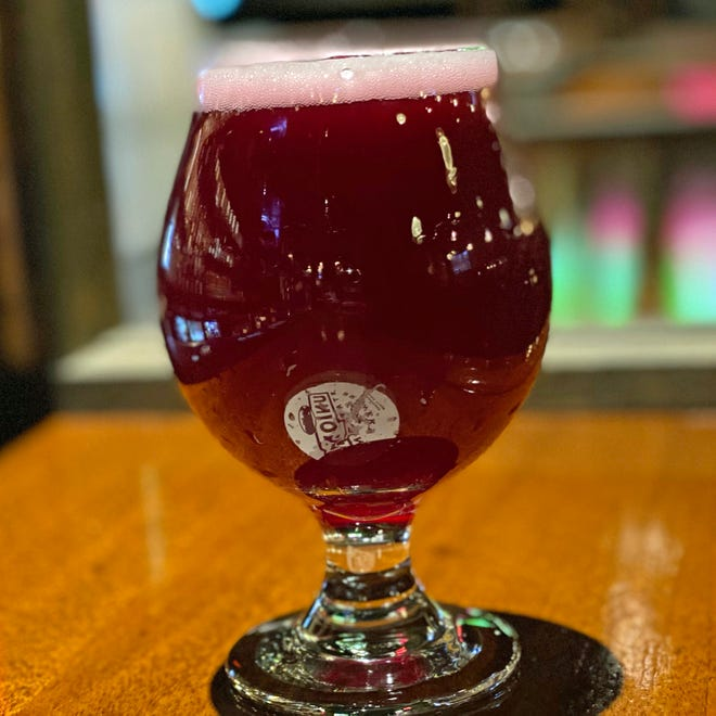 Phoenix Rising is a new collaboration beer from Union Station Brewery and Revival Brewing, both in Providence. The blueberry kettle sour tastes like blueberry jam.