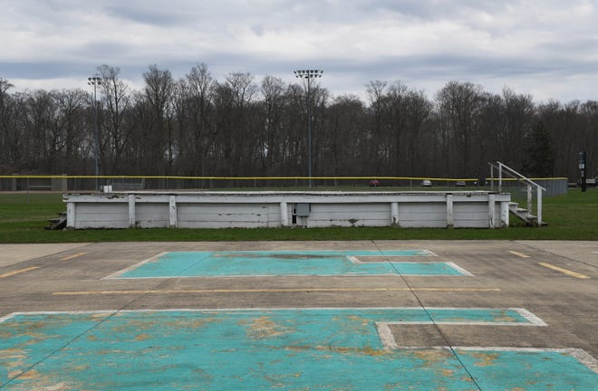 Pictured is the former Streetsboro Family Days stage that once sat in City Park. The city is currently undergoing the process of creating a new stage. The one shown was demolished in 2020.