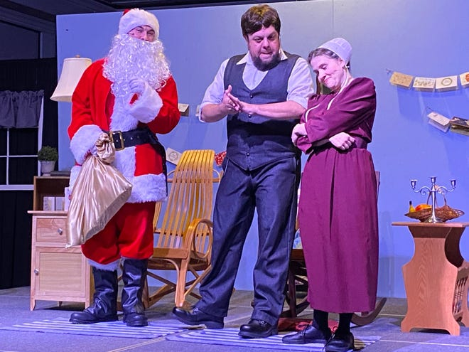 """From left, Gavin Carnahan, Lew Whitener and Carrie Greenberg in """"The Güt Life!"""" at the Carlisle Inn in Sarasota."""