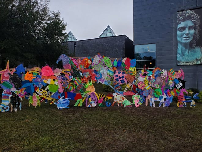 Inspired by the work of North Carolinafolk artist Clyde Jones, Clyde's Holiday by the Sea, will be installed at Cameron Art Museum for the holidays.