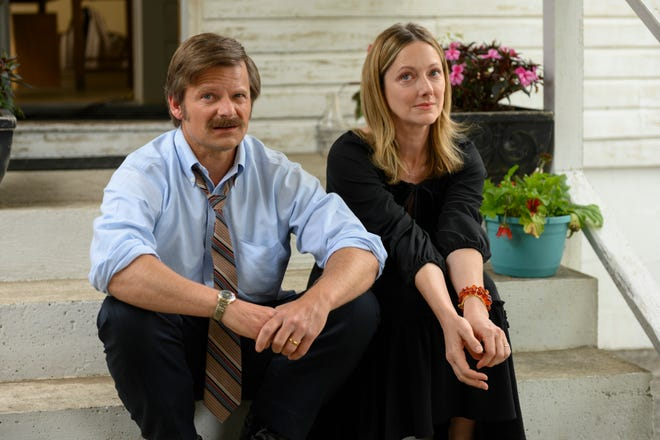 """Steve Zahn (left) and Judy Greer star in Amazon Studios' """"Uncle Frank,"""" which shot in the Wilmington area in 2019."""