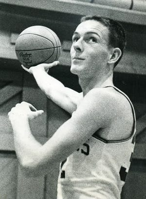 """Jack """"The Shot"""" Foley at Holy Cross in 1961."""