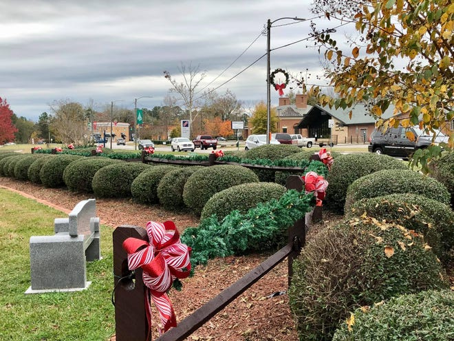 Hope Mills Lake Park is decorated for Christmas.