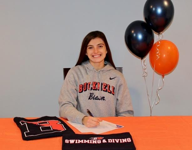 Monroe-Woodbury senior diver Meghan Catherwood has signed with Division I Bucknell after just two full seasons of high school competition. PHOTO PROVIDED