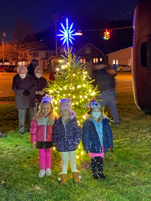 Young visitors turned out for the tree lighting ceremony in Midvale on Saturday.