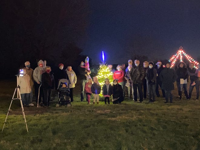 A tree lighting ceremony was held in Midvale Saturday.