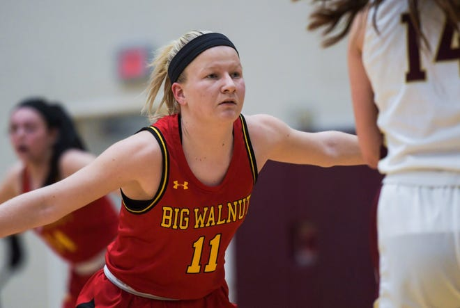 """Point guard Avery Maxeiner is one of three senior leaders for Big Walnut. Coach Jason Crawford said the Golden Eagles will be relying on the trio """"to help continue the success we've had over the past few years."""""""