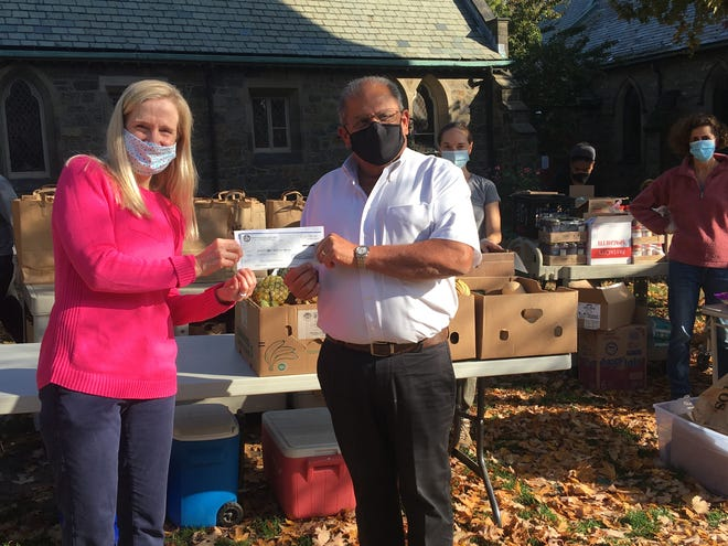 Brookline Commissioner of Public Works Andy Pappastergion, retired in September after 51 years of service to the town of Brookline. Funds originally raised for his retirement party were donated to the Brookline Food Pantry.