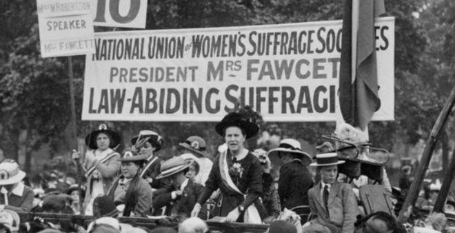 Photos like this of the National Union of Women's Suffrage Societies told the story of a movement for equal rights.