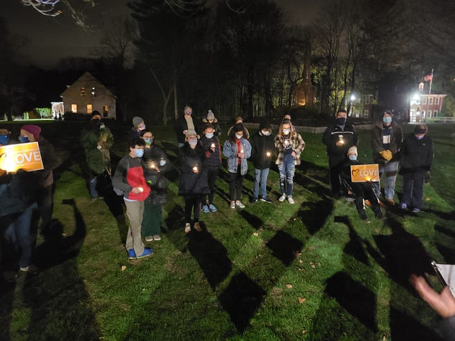 A Transgender Day of Remembrance Vigil was held from 5 to 6 p.m. Nov. 22 on the Norwell Town Common with 37 members of First Parish of Norwell UU Church, Norwell UCC and members of the public.
