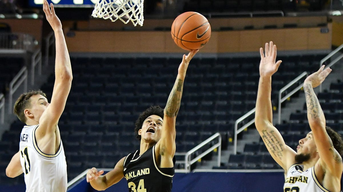 Friday's college basketball: Jalen Moore's 33 not enough, Oakland falls to Green Bay in OT 1
