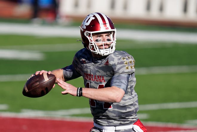 Indiana's Jack Tuttle completed 5 of 5 passes for 31 yards Saturday against Maryland after coming the bench.