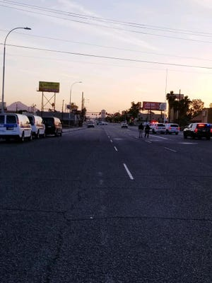Phoenix police shot and injured a man who was armed and reportedly jumping in front of cars near Indian School Road and Interstate 17, officials say.