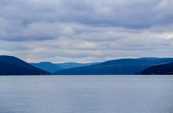 Looking south on Canandaigua Lake from Tichenor Point.