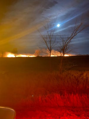 Sunday morning grass fire in Lincoln County.