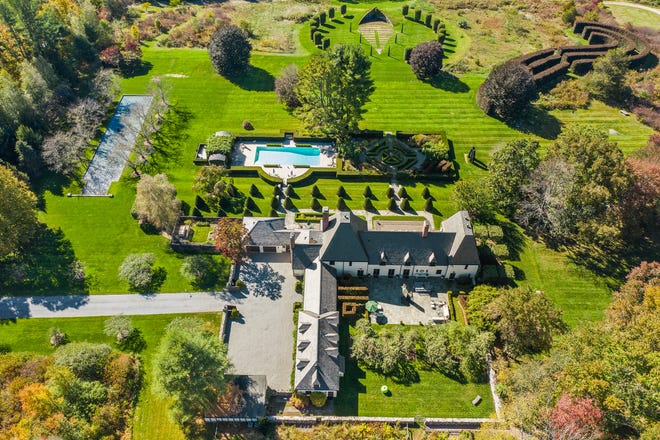 "This Waccabuc estate was a retreat for Tony Award-winning Broadway producers, Fran and Barry Weissler. The couple brought revivals of ""Chicago,"" ""Pippin,"" and other major hits including ""Waitress"" to the stage."