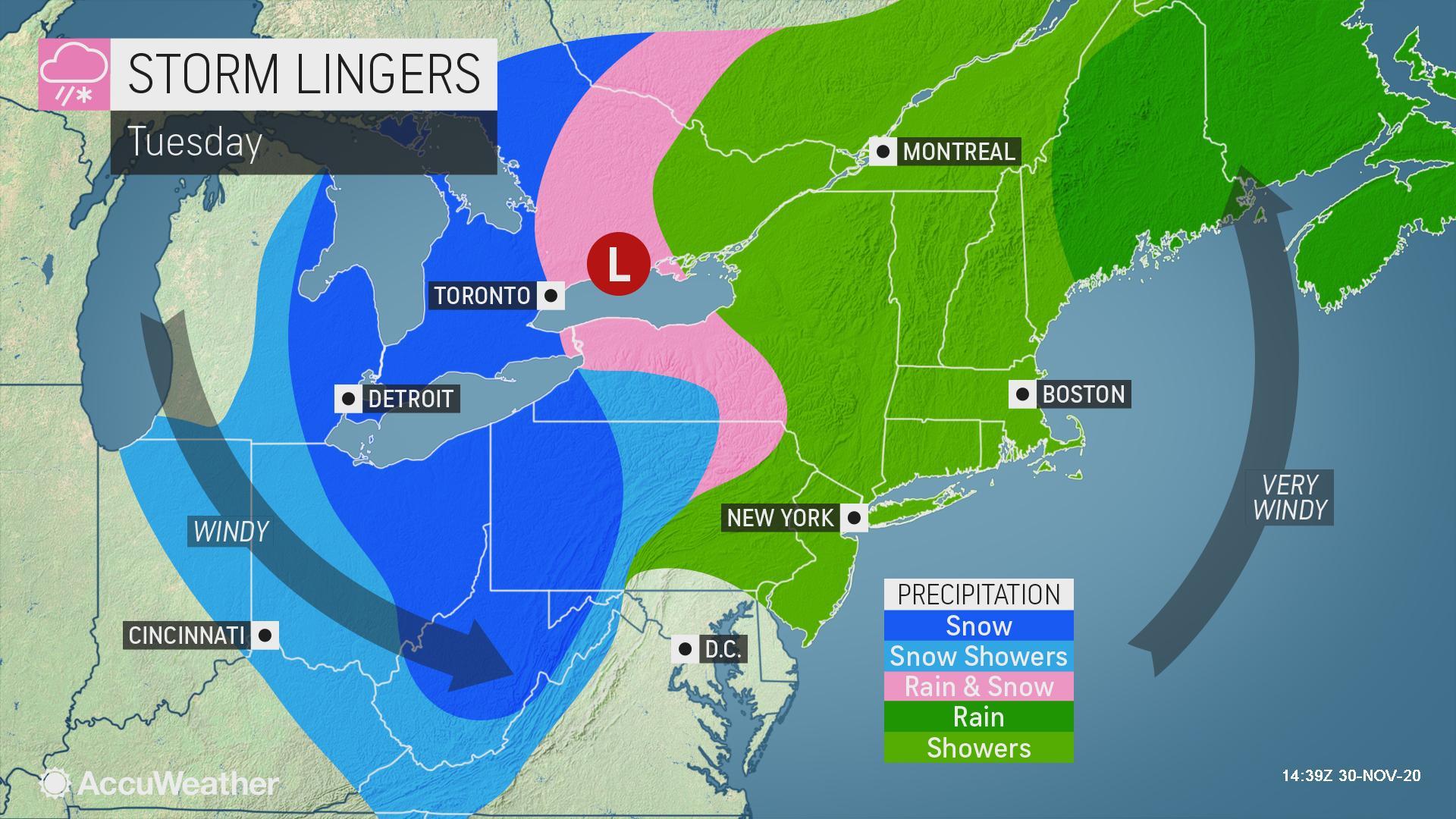 Hello, winter: Snowstorm targets Great Lakes, Ohio Valley, Appalachians