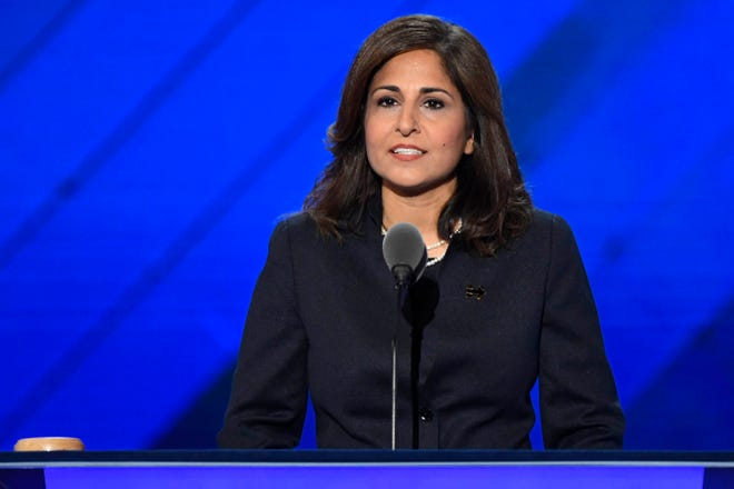 Neera Tanden, President of the Center for American Progress Action Fund, speaks at the 2016 Democratic National Convention. President-elect Joe Biden announced Neera Tanden as his pick to head the White House Office of Management and Budget.