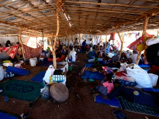 Ethiopian refugees who fled the fighting in the Tigray region are pictured at Umm Rakuba camp in eastern Sudan's Gedaref state on Nov. 30, 2020.