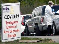 Testing for COVID-19 in Houston on Nov. 19, 2020.
